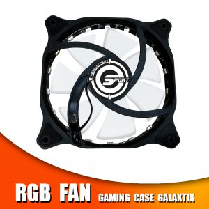 RGB fan gaming case galaxtix
